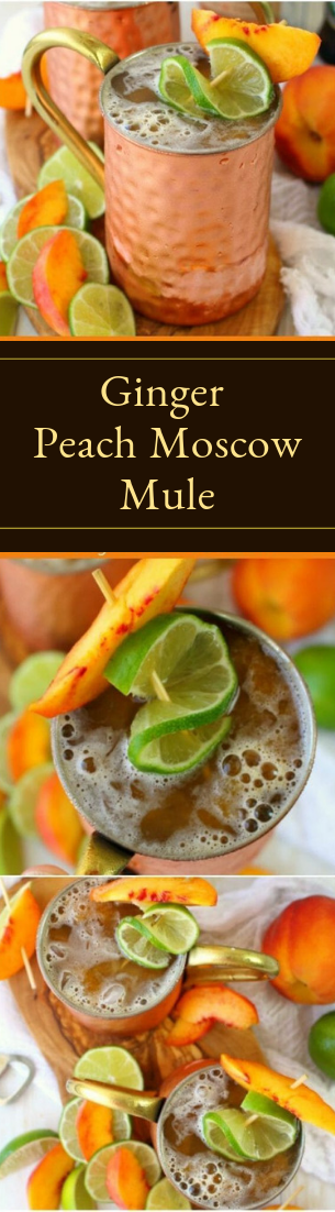 Ginger Peach Moscow Mule #cocktail #smoothie