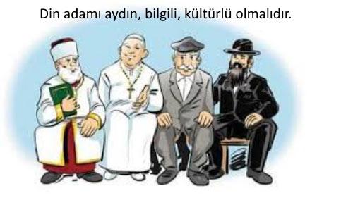 Din adamı farkı