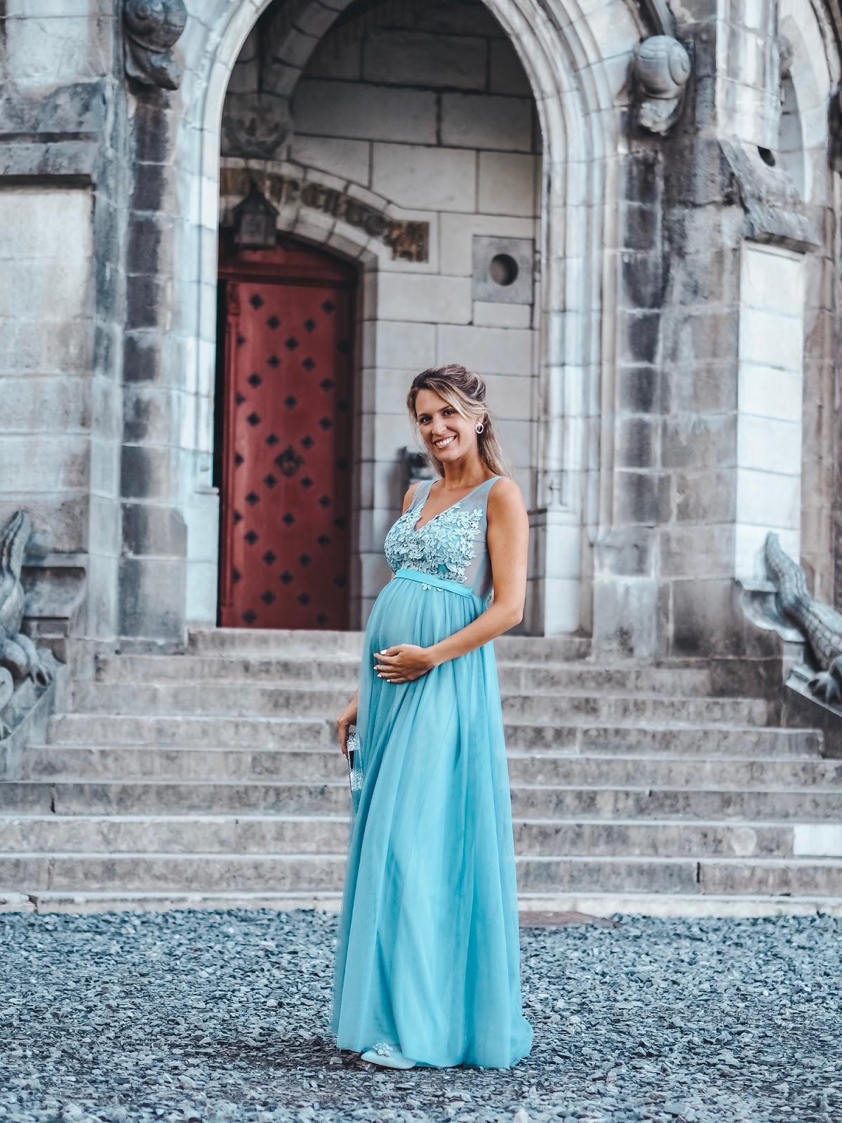 invitada boda noche embarazada