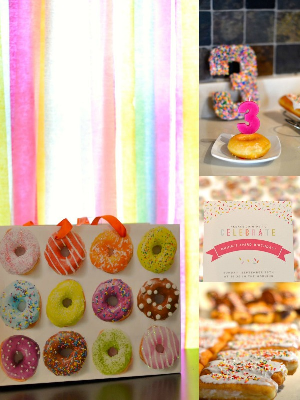 First birthday party donuts theme.