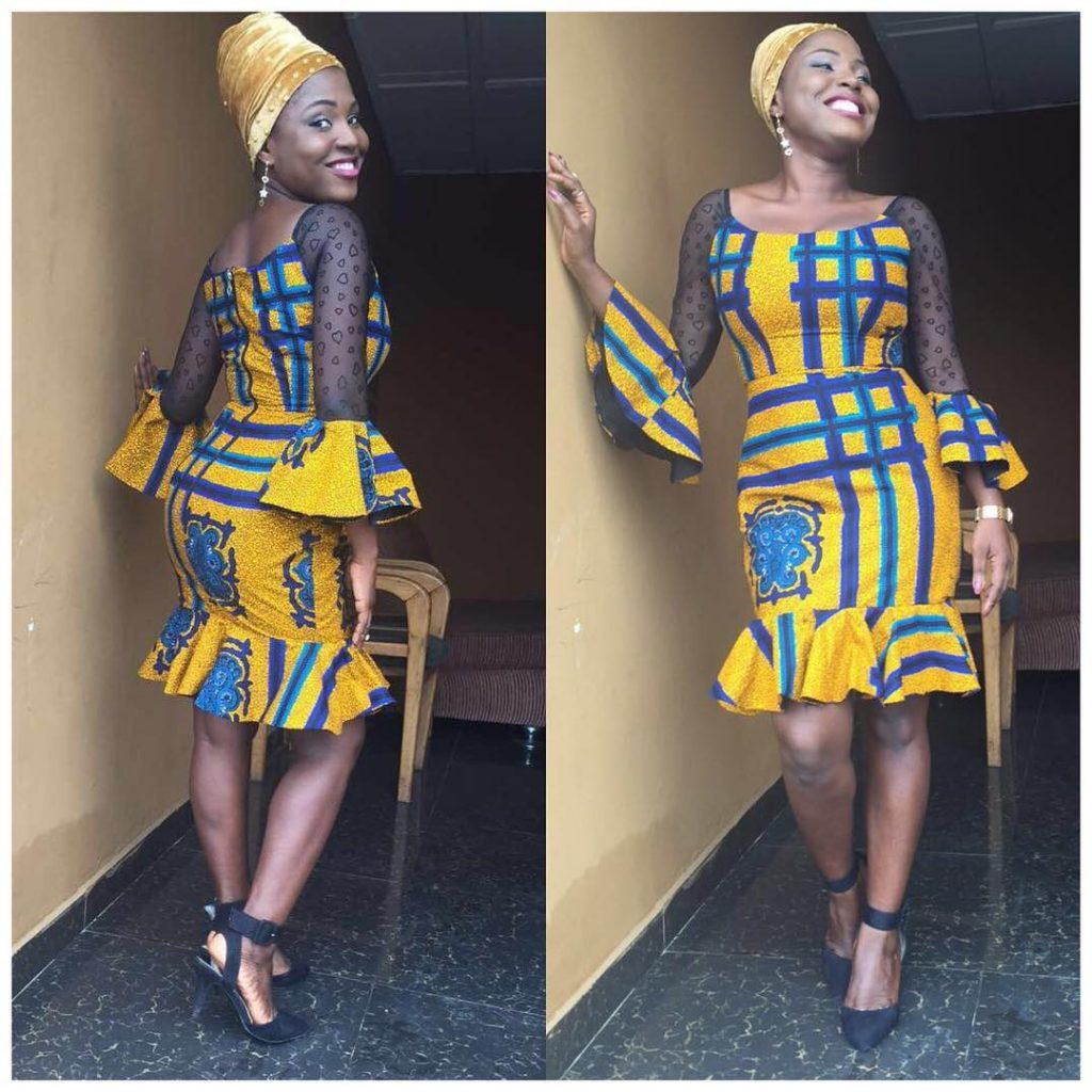 Simple Ankara Gown Styles Mix With Lace Materials Dezango