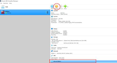 kali linux shared folder settings