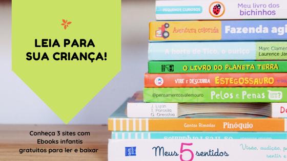 Leia com a sua criança, ebooks infantis, literatura infantil, lendo com as crianças, pensamentos valem ouro, Vanessa Vieira