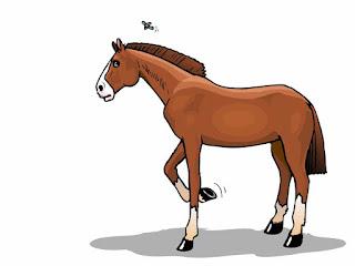 Gambar kuda kartun yang mudah ditiru