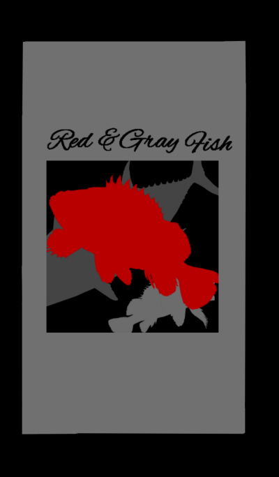 Red and gray fish