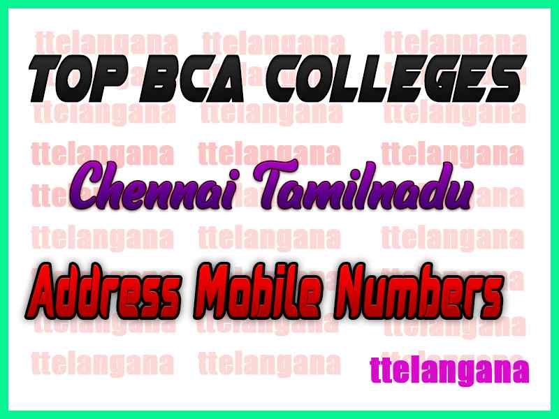 Top BCA Colleges in Chennai Tamilnadu