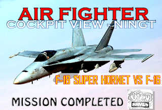 Air Combat Jet F18 Super Hornet VS F16