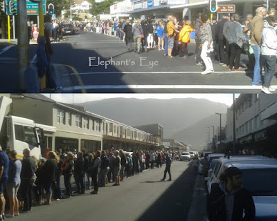 Human chain Zuma must fall
