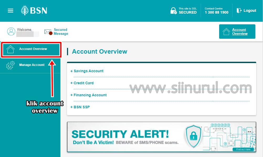 Cara Dapatkan Penyata Akaun (Bank Statement) BSN Melalui myBSN Secara Online