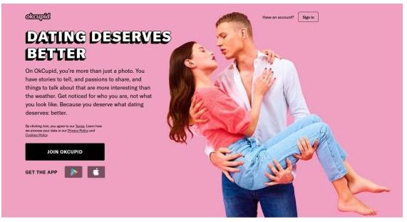 تطبيق OkCupid رقم واحد في برامج التعارف العالمية