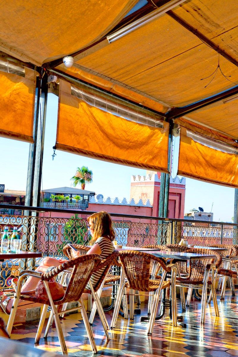 Le Grand Balcon du Café Glacier, Marrakesz, Marrakesz najlepsze restauracje, Marrakesz gdzie zjeść, jedzenie w Maroko, Marrakesz tagine, Maroko co zjeść,