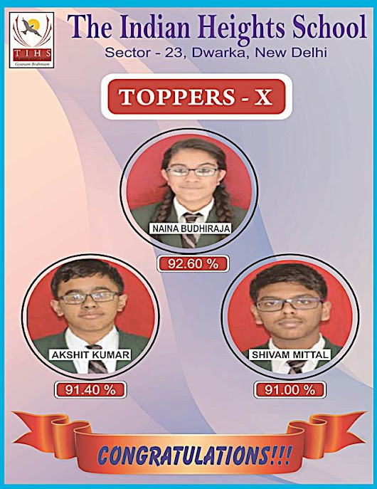 Congratulations Toppers - The Indian Heights School