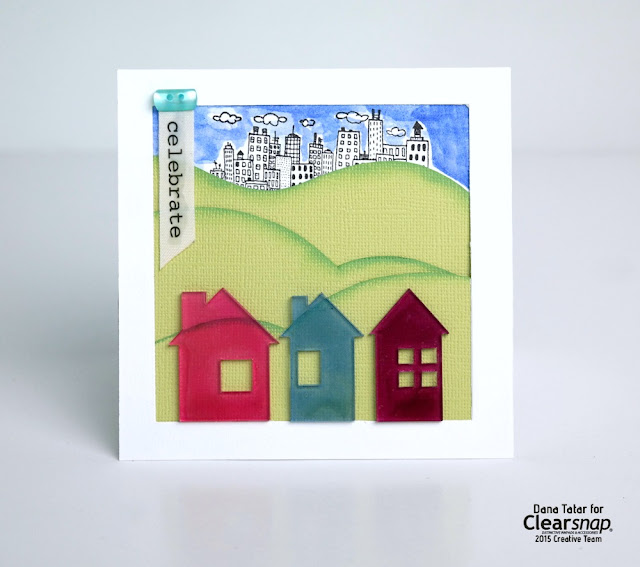 Celebrate House Warming Card Tutorial by Dana Tatar for Clearsnap
