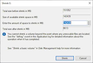 Cara Membagi Partisi Atau Shrink Hardisk Di Windows 10