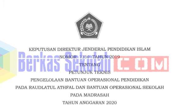 Juknis BOP RA dan BOS Madrasah TA 2020