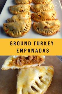 Ground Turkey Empanadas: A tender flaky crust surrounds a lighter ground turkey filling that's spiced and baked to perfection. - Slice of Southern