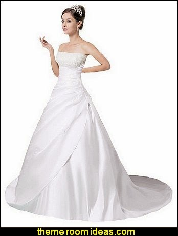 Crystal Strapless Satin Wedding Dress Bride Gown