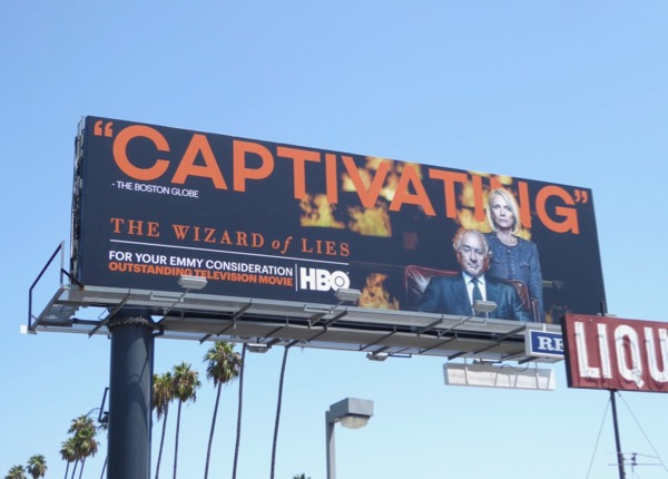 Wizard of Lies Captivating Emmy billboard