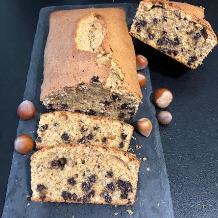 """Hundertgrammkueche (gâteau """"cent grammes"""" alsacien) chocolat et noisettes"""