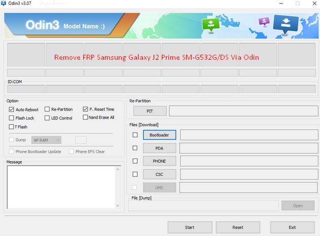 Remove FRP Samsung Galaxy J2 Prime SM-G532G/DS Via Odin