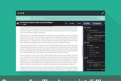 Cara Membuat Progress Scrollbar Javascript di Blogger