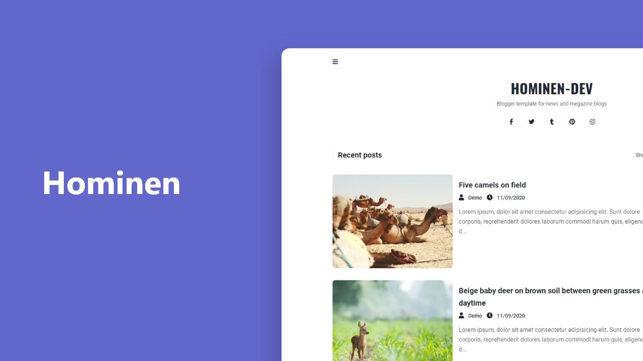Hominen - Plantilla responsive para blogger