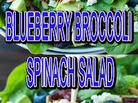 Blueberry Broccoli Spinach Salad