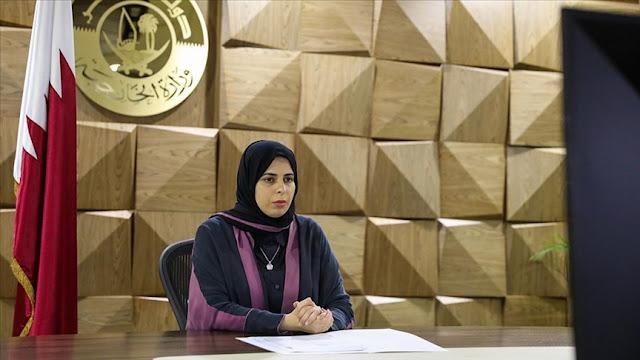 مساعدة وزير الخارجية القطري المتحدثة باسم الوزارة لولوة بنت راشد الخاطر، الأزمة الخليجية، قطر، حربوشة نيوز