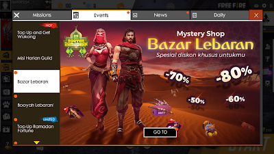 Cara Membuka Event Mystery Shop Bazar Lebaran Free Fire Blank Putih