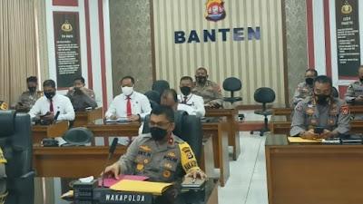 Polda Banten Gelar Anev Opsnal dan Operasi Aman Nusa II Tahun 2021