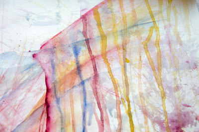 contemporary art, abstract expressionism, aquarelle, markmaking, scribble infused, art, painting, dripping paint, rainbow colors