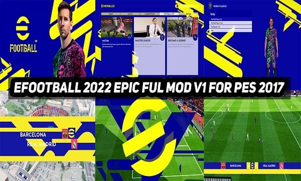 مود تحويل بيس 2017 الى اي فوتبول 2022 بشكل كامل