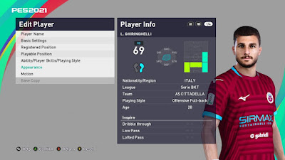 PES 2021 Faces Luca Ghiringhelli by VN HUY BUI