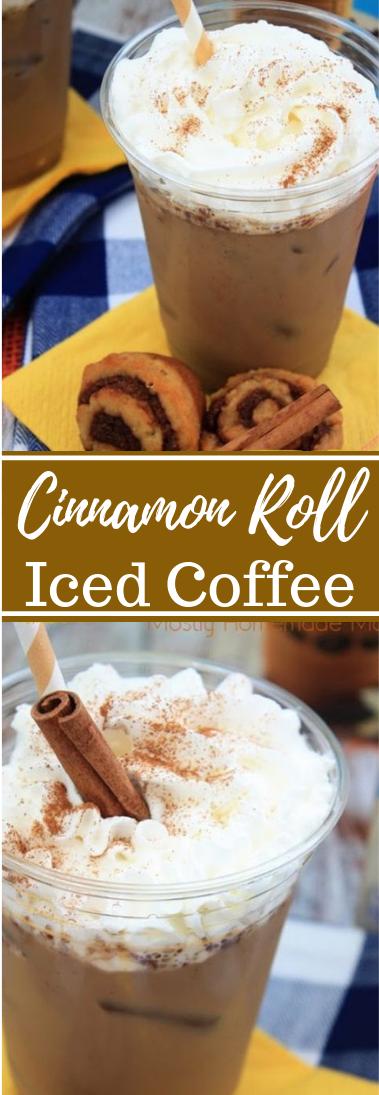 Cinnamon Roll Iced Coffee #drink