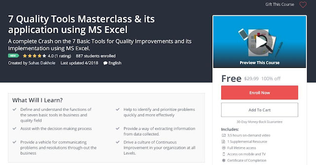 7 Quality Tools Masterclass & its application using MS Excel