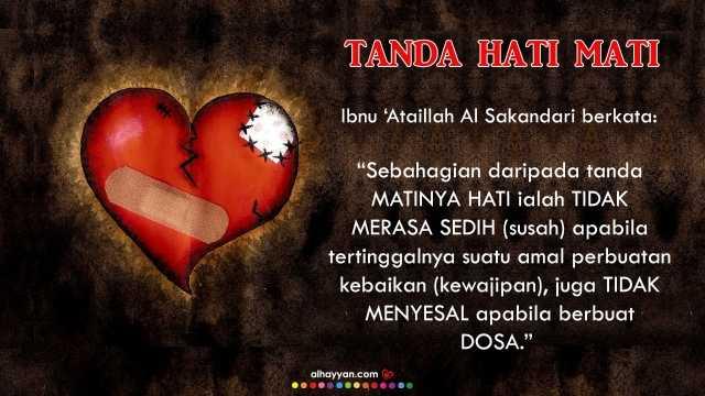 7 tanda hati mati - #tazkirahsentap