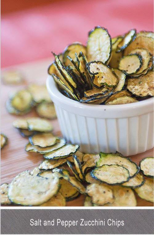 SALT AND PEPPER ZUCCHINI CHIPS #cauliflower #vegetarian #zucchini #vegan #pepper