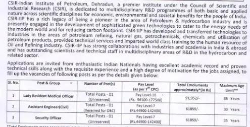 CSIR Indian Institute Of Petroleum Recruitment 2020