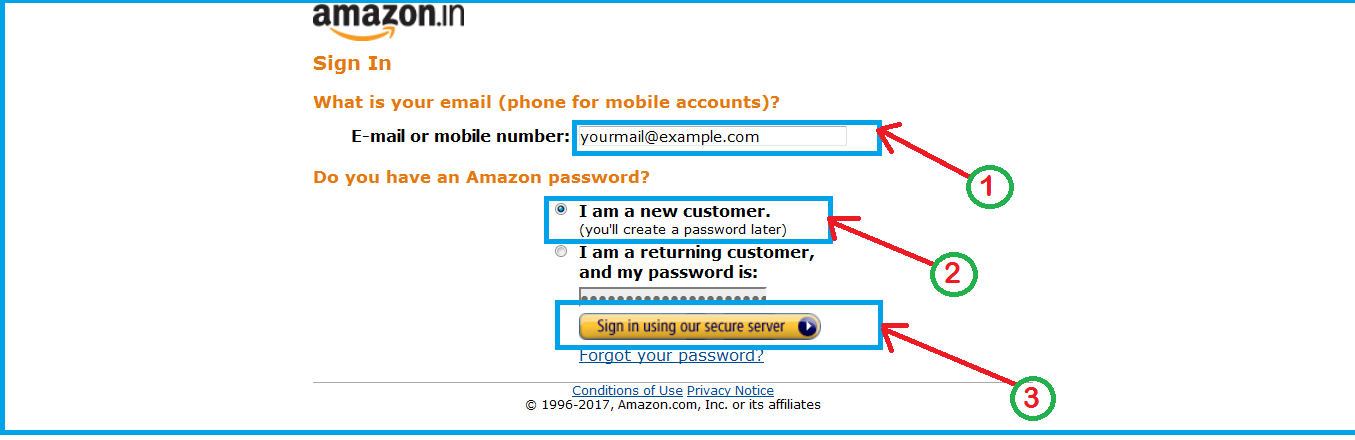 Sign up with valid email and password