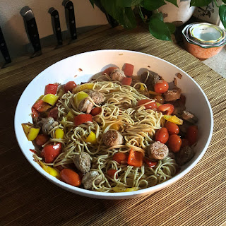 Sausage and Peppers with Pasta