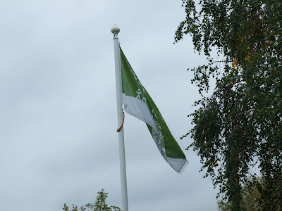 The Green Flag raised at the Butterfly Park