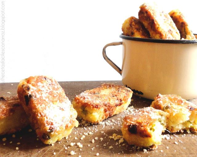 croquetas vegetarianas sin gluten de queso y arroz