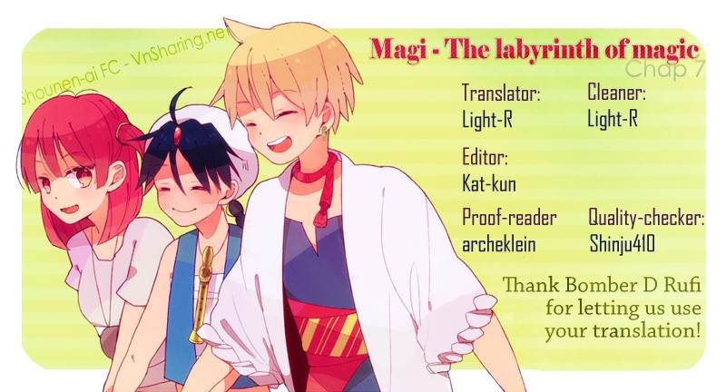 Magi The Labyrinth of magic chapter 7 trang 1