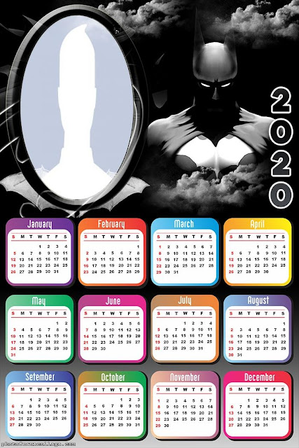 Batman: Free Printable 2020 Calendar