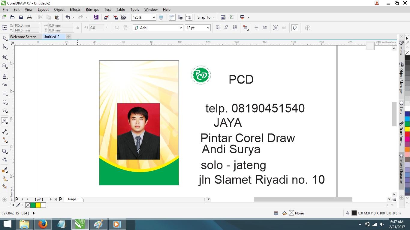 Cara Membuat ID Card dengan Corel Draw X4 X5 X6 X7