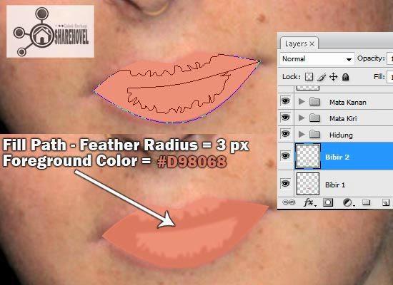 membuat vector bibir menggunakan photoshop - tutorial membuat vector di photoshop - membuat foto menjadi kartun dengan photoshop