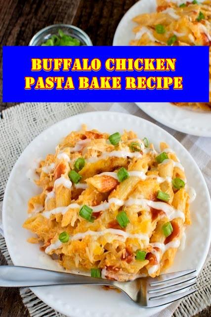 #Buffalo #Chicken #Pasta #Bake