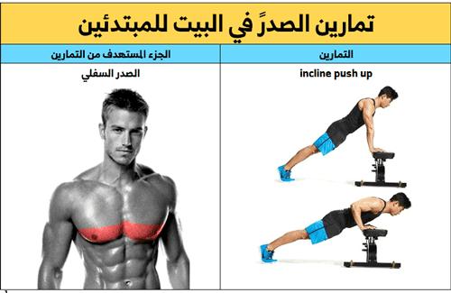 تمارين الضغط للمبتدئين,تمرين الضغط للصدر السفلي,تمرين البوش أب للصدر السفلي