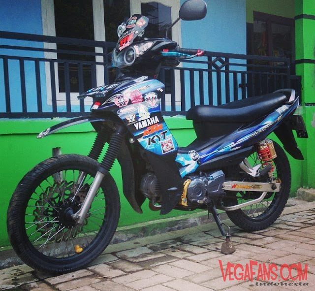 Jupiter Z Hitam Modif Ala Motor Trail (Super Bike)