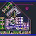 مخطط مبدئي لمستشفى اتوكاد dwg